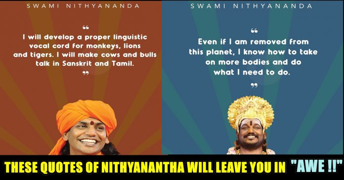 10 Quotes Of Swami Nithyanantha Which Is Will Shock You Right Away