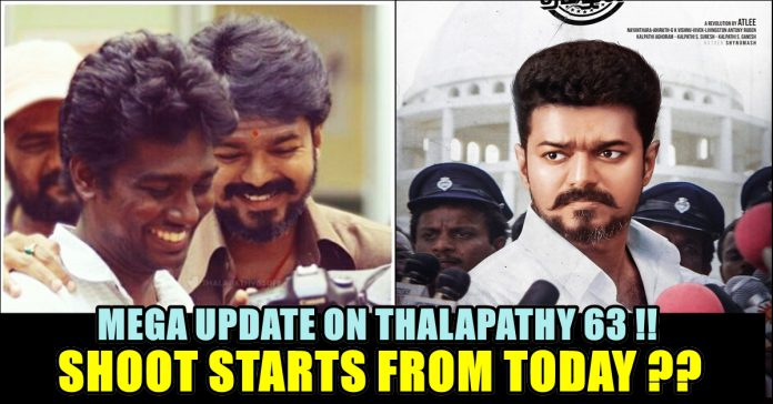 Thalapathy 63 With Atlee To Start Shoot From Today !! Exclusive