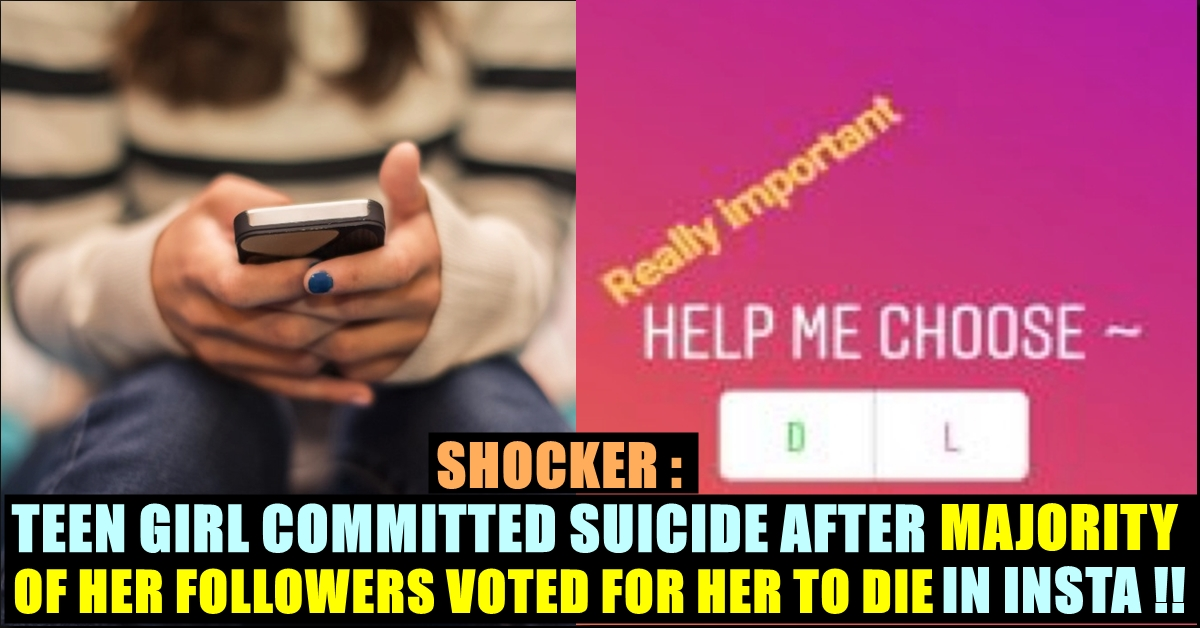 Teen Girl Committed Suicide Because Of Her Instagram