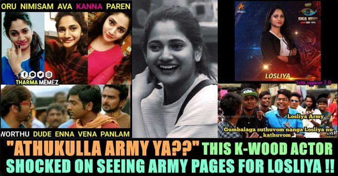 Within 24 Hours Of BIGG BOSS 3, Fans Started Army For Losliya