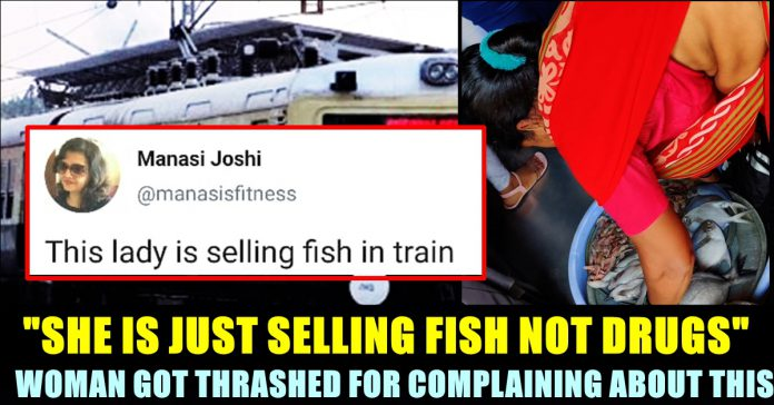 woman complained about fish selling